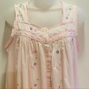 Vintage Adonna Pink Embroidered Nightgown / Dress